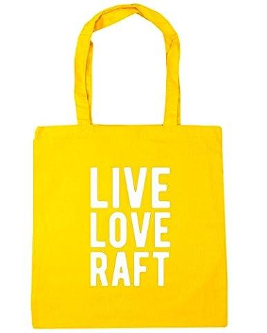 HippoWarehouse Live love raft Tote Shopping Gym Beach Bag 42cm x38cm, 10 litres