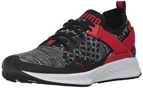 Puma-Mens-Ignite-Evoknit-Lo-Sneaker-Black-White-Toreador-115-M-US
