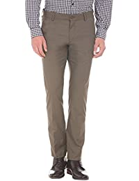Excalibur by Unlimited Men's Slim Formal Trousers (8907542577378_400016498912_30_Brown)