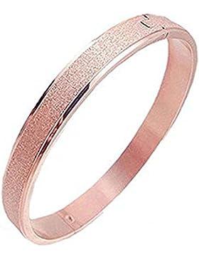 Findout 14K Rotgold / gelb vergoldet Titan Stahl mattiert Ewigkeit Ring Armband (F1728)