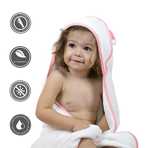 BEBENUI Kapuzenhandtuch Baby 100% Bambusfaser | Kinder Handtuch mit Kapuze | Öko Schadstofffrei &...