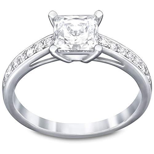Swarovski Damen-Ring Metall 1 Swarovski Kristalle Swarovski-Kristall silber, 55 (17.5)