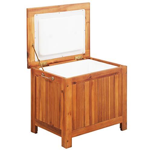vidaXL Akazienholz Massiv Eisbox 36 L Kühlbox Thermobox Kühler Kühlschrank
