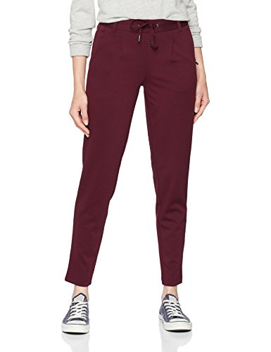 TOM TAILOR Denim Damen Hose Sweathose mit Tunnelzug, Rot (Wine Red 4545), 34 (Herstellergröße: XS) (Damen-cord-hose)