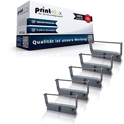 5x Kompatible Schriftbänder für Epson ERC 32 Olympia CM1840 C43S015371 ERC-32-B Farbband Kassette Schwarz Color Office Serie - Epson Farbband Kassette