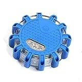 Plextone LED di Emergenza Avvertimento Strada Flares più modalità Lampeggiante per Auto e Veicoli marini Easy Batteria di Ricambio (Blu)