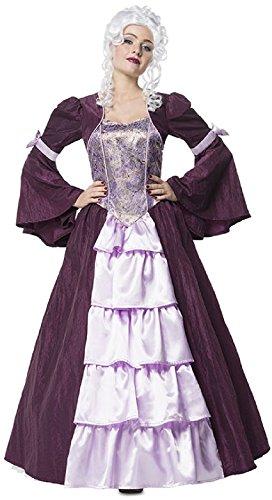 L3201040-44 lila-flieder Damen Rokoko Barock Kostüm Kleid Gr.44 (Rokoko Kleid Kostüm)