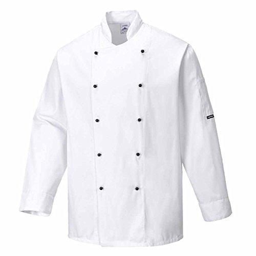 SUW–Somerset Köche Küche Workwear Jacke, XXX-Large, weiß, 1
