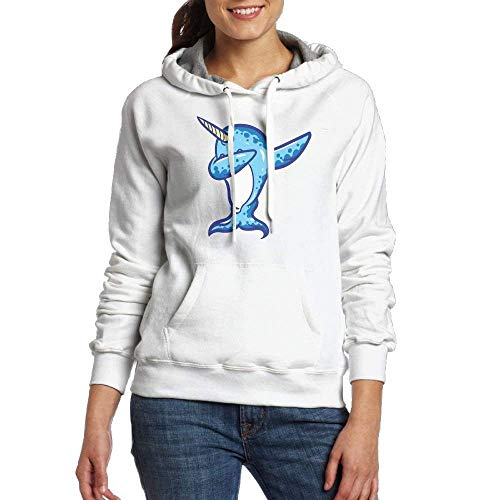 Hot sale shop Dabbing Narwhal Women Long Sleeve Drawstring Hoodie Pullover