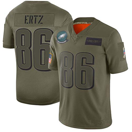 NBJBK NFL Jersey Eagles Giants Falcons Raiders Fußballtrikot Besticktes Kurzarm-Sport-Top-T-Shirt  ,C,M