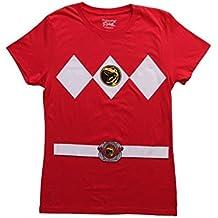De disfraz de grupo de rojo de alimentación Ranger T-camiseta Ranger para hombre para niños