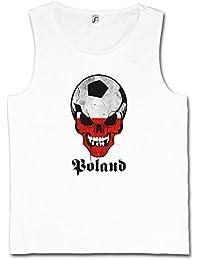d1fb3ac0b3acd Classic Poland FÚTBOL Football Soccer Skull Flag Camiseta SIN Mangas –  Bandera cráneo Polonia Fan Hooligan