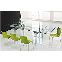 Amazon Fr Table Verre Rallonge
