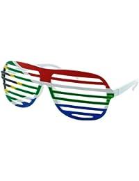 Alsino Deutschland Brille Shutter Shades Fanbrille Flaggenbrille Flagge Fahne und viele Länder