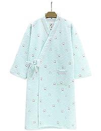 YTFOPLK Linda Ola De Gatos Batas De Kimono Japonesas para Mujer Invierno Espesar Batas De Algodón