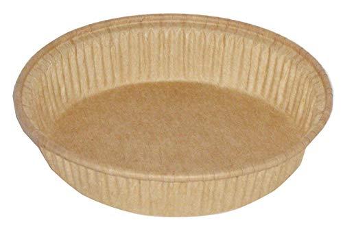 zi pac Bio Food Pack Einwegbackformen, kompostierbar, öko, umweltfreundlich, rund, Ø195x25mm, 600ml, 140 Stück