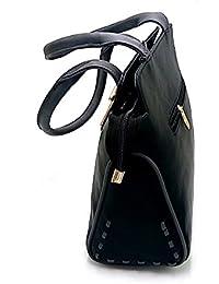 Purse Collection Elegance Women's Synthetic Leather(PU) Black Handbag & Purse /Woman Purse Offer /ladies & Girls...