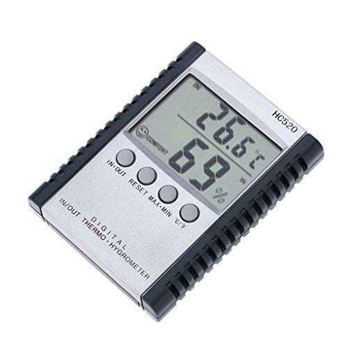 Zerama Tester di umidità di Stazione Meteo LCD HC520 / O digitali del termometro di Temperatura con Cavo del sensore