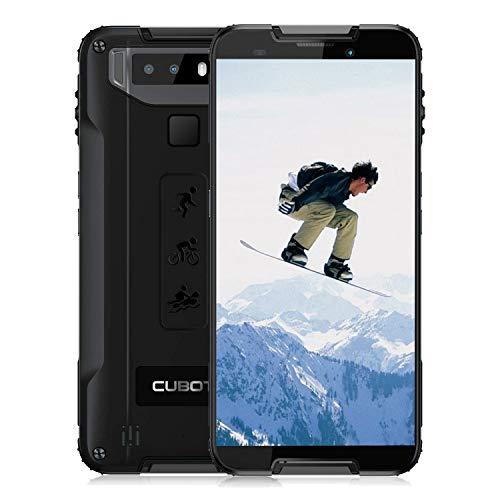 OUKITEL WP1-2019 Rugged Smartphone 4G(4GB + 64GB), Cellulare Resistenti Dispaly 5,5' HD+ 18: 9, Impermeabile IP68/Antipolvere/Antiurto con Android 8.0 Batteria 5000mAh Dual Sim Ricarica Wireless