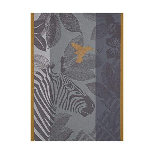 Le Jacquard Français 24672 Torchon Zebra Family Grey 60x80 Cotton