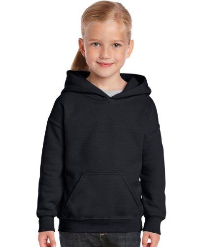 Gildan Kinder Sweatshirt mit Kapuze Schwarz - Schwarz