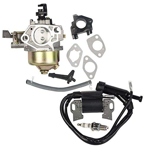 OuyFilters Pack of Carburetor with Ignition Coil Spark Plug for Honda Gx340  Gx390 11hp 13hp Engine Lawn Mower New