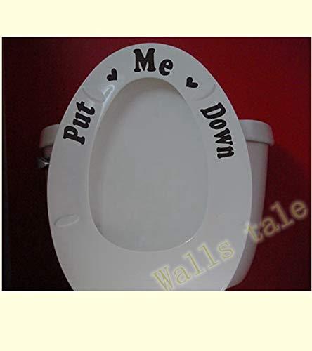 + Flush Toilettensitz-Aufkleber, mit Aufschrift Reminder to Clean, Schwarz ()