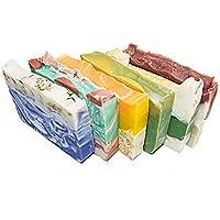 floreale ospite sapone set (6bar)-saponi. brasiliano fango, arancio, calendula, bambù lilla lavanda, basilico, rose e avocado Citrus sapone. Set di 6–56,7gram