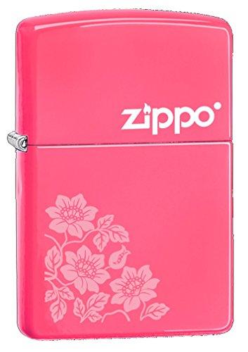 Zippo Flowers - Mechero, Color Rosa