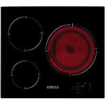 Edesa EPV3320S Integrado Negro hobs - Placa (Integrado, Vidrio y cerámica, Negro, 1200 W, 15,5 cm, 1800 W)