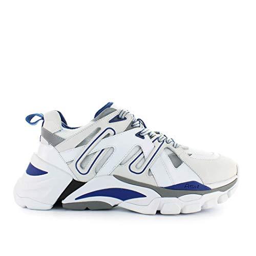 size 40 1422e c3944 ASH Scarpe da Uomo Sneaker Free Bianco Blu Autunno Inverno 2019