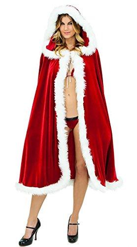 lvraozhuozhuo Herren & Damen Kostüm Umhang mit Kapuze Halloween Weihnachten Cosplay Party
