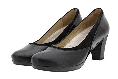 PieSanto Scarpe Donna Comfort Pelle 9311 Scarpe con Tacco Comfort Larghezza Speciale Negro