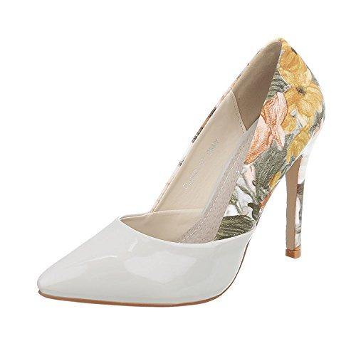 Ital-Design Scarpe da Donna Scarpe Col Tacco Tacco a Spillo Scarpe con Tacco Alto grigio Multi CL-49P