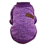 #4: TOOGOO(R) Classic Winter Warm Dog Clothes Puppy Cat Jacket Fashion Soft Sweater Clothes For Chihuahua Yorkie XL purple