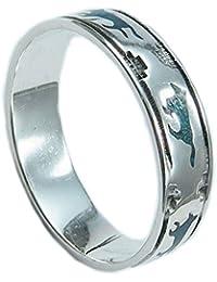Handgefertigt Massiv 925 Sterlingsilber Löwe Tier Herz Herren Damen Ring