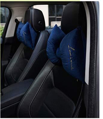 WASD Samt Auto Bogen Kopfstütze Rückenlehne Kopfstütze Set Auto Nackenkissen Unsichtbarer Reißverschluss 26 * 35Cm