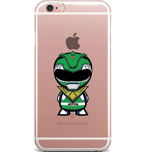 Blitz® POWER RANGER motifs housse de protection transparent TPE iPhone Spiderman M12 iPhone 6 6s Green Power Ranger M4