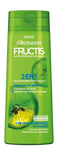 Garnier Fructis Color Resist Shampooing Fortifiant Force & Brillance 2 en 1 pour Cheveux Normaux Fatigués 250 ml - Lot de 4