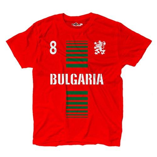 KiarenzaFD T-Shirt Manner National Sport Bulgarien Bulgaria 8 Fussball Sport Europa Leone 2 L