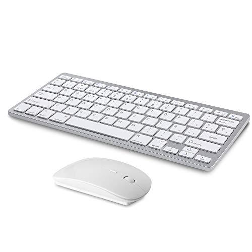 Teclado inalámbrico ratón Bluetooth Recargable Compatible
