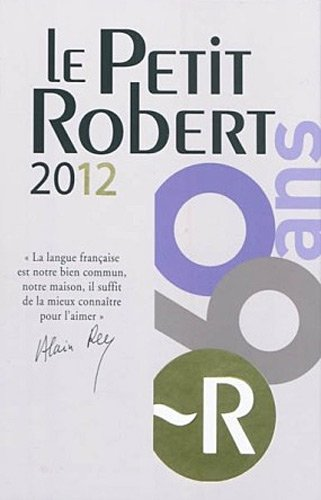 PETIT ROBERT LANGUE FSE 2012