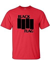 Men's Black Flag Logo T-Shirt - 8 Colours Available