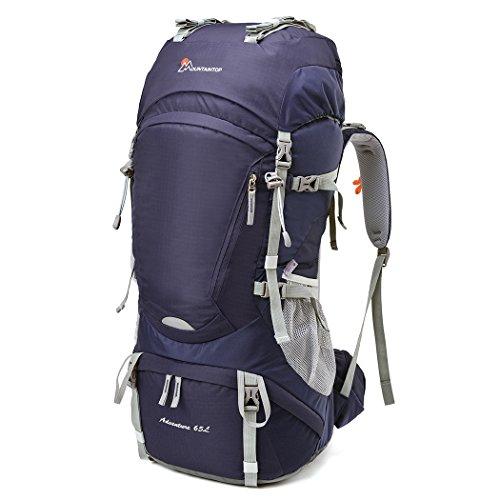 Mountaintop 65+5L Trekkingrucksack für Camping, Wandern, Bergsteigen, Reisen, 75 x 33 x 25 cm