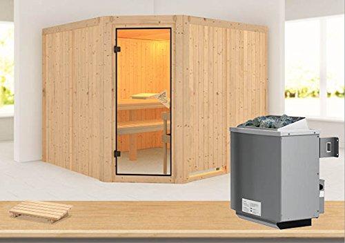 Farin - Karibu Sauna inkl. 9-kW-Ofen - ohne Dachkranz -