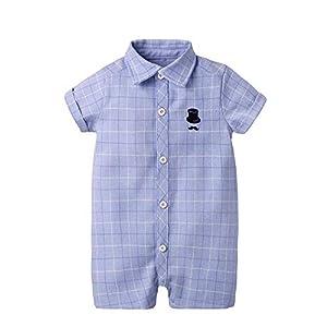 PUJIANGxian Boy Compruebe Ropa Que Sube del Estilo del Caballero Siamés Actuación (Color : Sky Blue, Size : 070cm) 6
