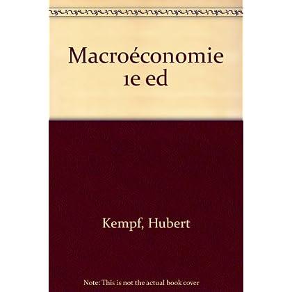 Macroéconomie : Edition 1995