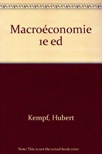 MACROECONOMIE. Edition 1995