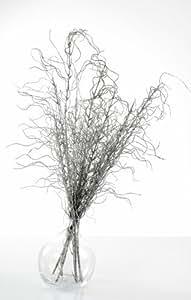 SANTEX 3441-4, Branche de saule artificielle 116cm, Argent