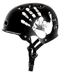"""Sport DirectTM """"Die Hand"""" BMX-Skate schwarz Fahrrad Helm 55-59cm"""
